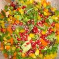 Πράσινη σαλάτα με ρόδι